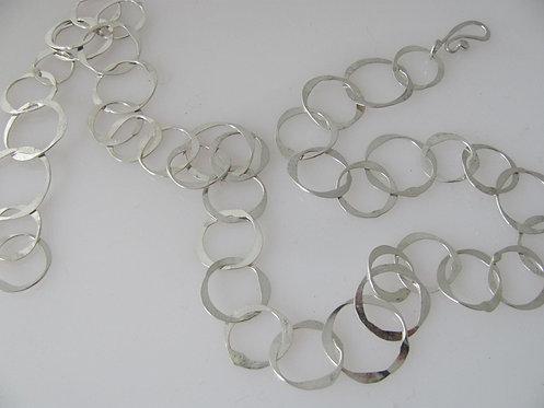 NC14 handmade hammered chain