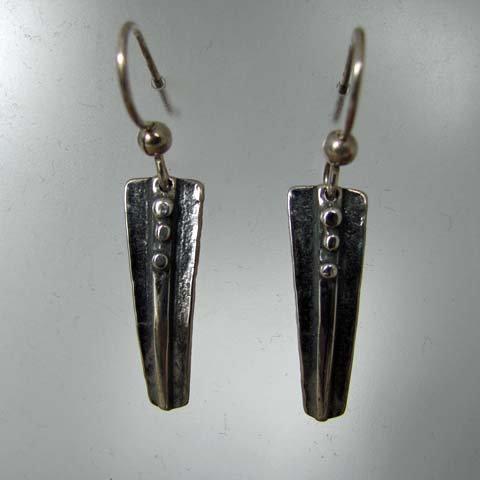 C12 Birch bark drop earring