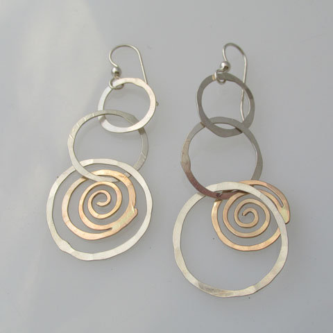 CC10 Spiral within a hoop earring