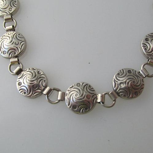 Br-C4 Dot and spiral linked bracelet