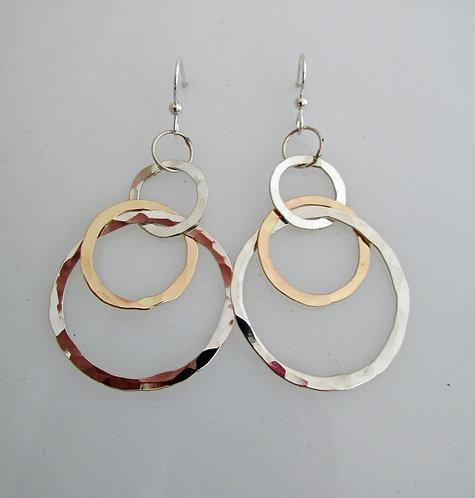 CC6 mixed metal hoops