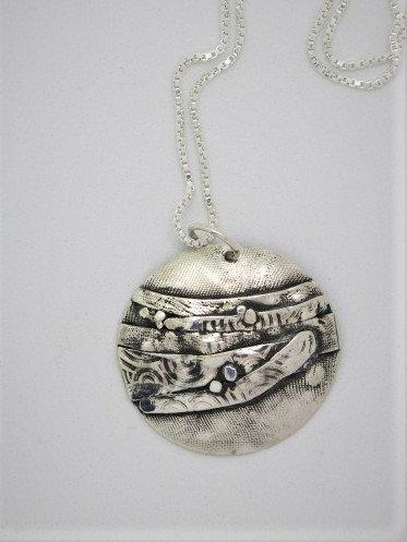 Bnc5 Dramatic birch silver pendant