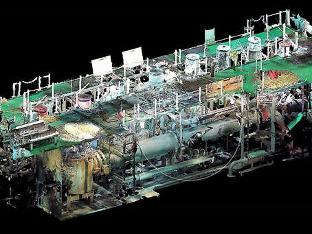 Laser scanning Engine room & BWTS container vessel 34496 t