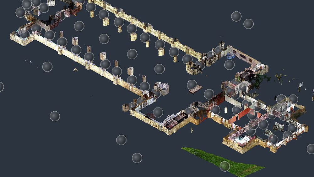 Organización de los puntos de escaneo láser