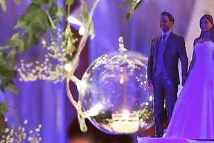 Compositions of groom and bride for cakes figures printed in 3D