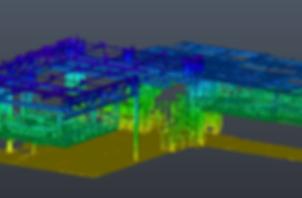 Balayage laser d'installations industrielles - Nuage de points