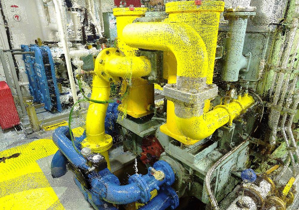 3D Naval laser scanning - BTWS Retrofit of Oil/Chemical Tanker3D Naval laser scanning - BTWS Retrofit of Oil/Chemical Tanker - Europe