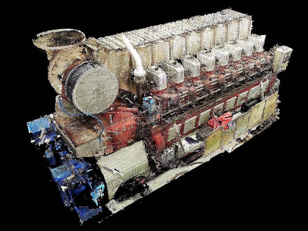 Naval laser scanning Engine Room & BWTS General Cargo Vessel