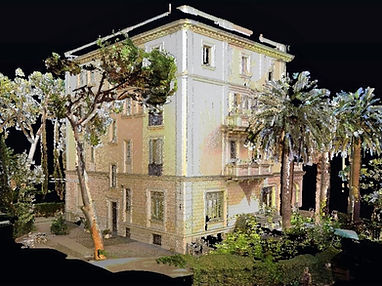 Numérisation complète des bâtiments, numérisation laser, BIM, ingénierie inverse, architecture, nuage de points, LIDAR, Barcelone, Espagne