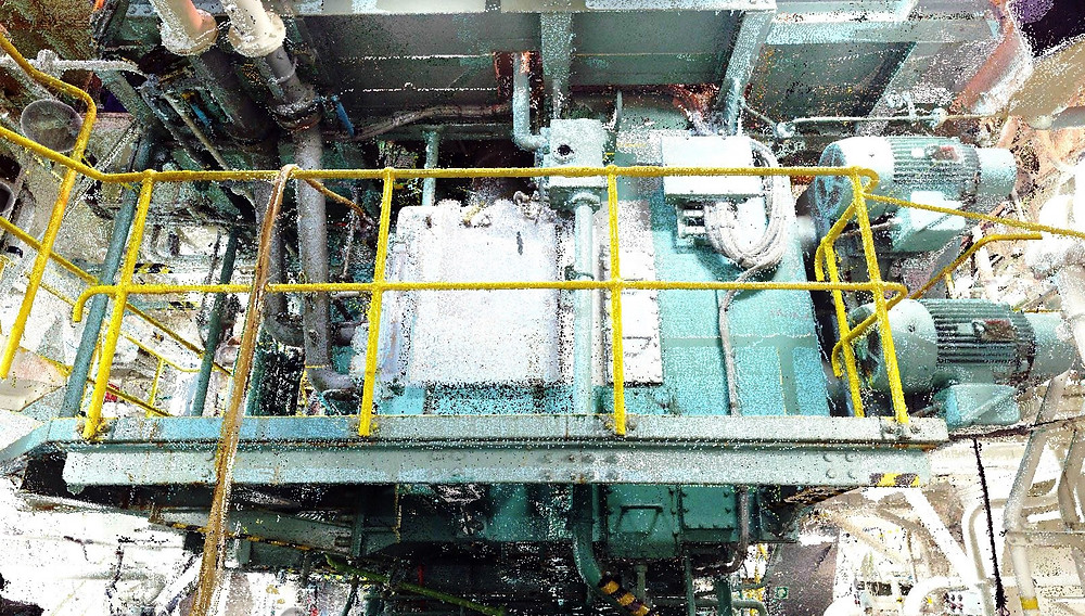 BWTS pumps, pipes and valves laser scanning - Marine laser scanning, Europe