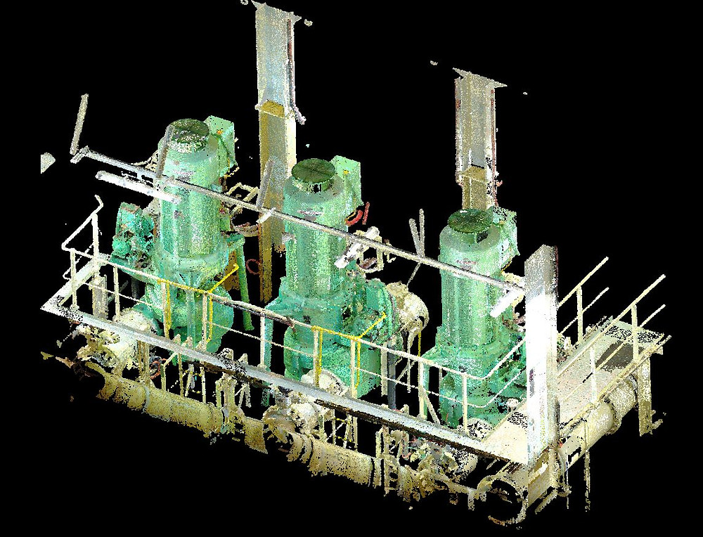Engine Room 3D laser scanning 83961 t Large GNL tanker for BWTS retrofit