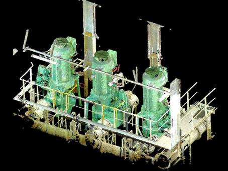 Engine Room 3D laser scanning 83961 t Large GNL tanker for BWTS retrofit