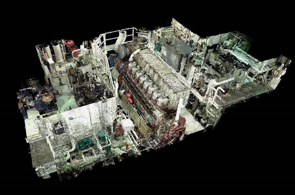 Marine laser scanning Engine Room & BWTS General Cargo Vessel