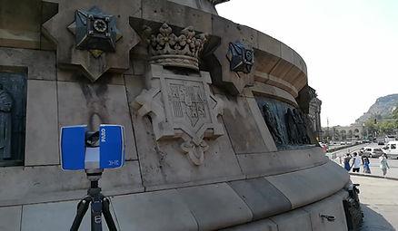 Escaneo láser 3D escudos monumento Cristóbal Colón, impresión 3D, Escaner 3D, Impresora 3D