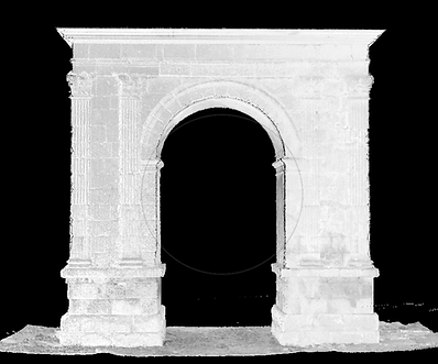 Bará Roman arch point cloud, 3D laser scanner, BIM (Building Information Modeling), 3D CAD design, BIM (Building Information Modeling)3D CAD Design, 3D Building Scanning, Autodesk Revit, Archicad, Laser Scanning, Reverse Engineering, Architecture, Engineering, Madrid, Barcelona, Valencia, Zaragoza, Spain