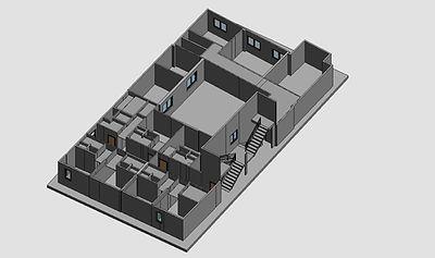 Modelo Revit a partir de nube de puntos obtenido con escaner laser, Escaneo 3D Edificios