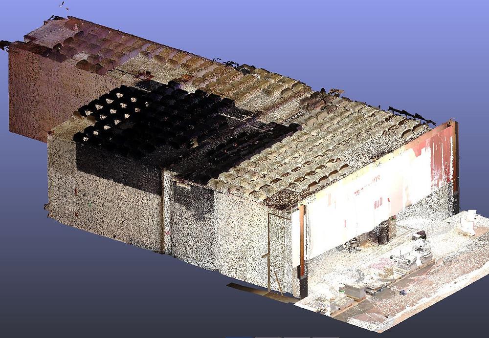 Escaneado Láser 3D locales comerciales para BIM (Building Information Modeling) Barcelona - España