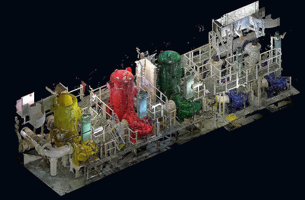 Escaneado láser 3D de instalaciones industriales para gemelos digitales - Barcelona - España