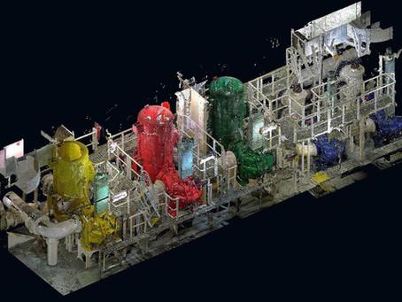 Escaneado láser para instalaciones industriales y gemelos digitales