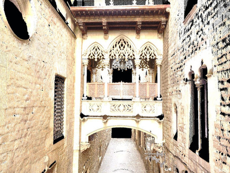 Escaneado Láser 3D de Barrio Gótico de Barcelona - Puente del Obispo