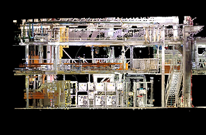 3D point cloud industrial facilities, Laser scanner, BIM (Building Information Modeling)