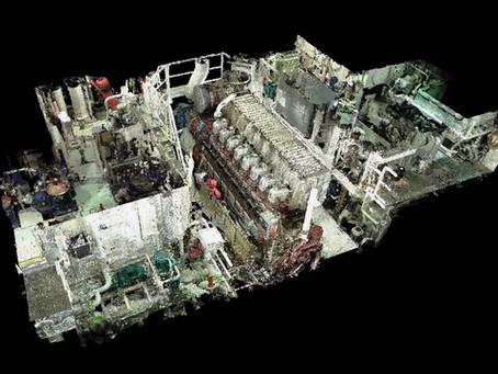 Marine laser scanning Engine Room & BWTS General Cargo Vessel 6090 t