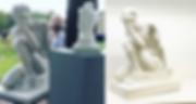 Reproducción 3D a escala de esculturas Jorge Egea, impresión 3D, Escaner 3D, Impresora 3D, Escaneo 3D.