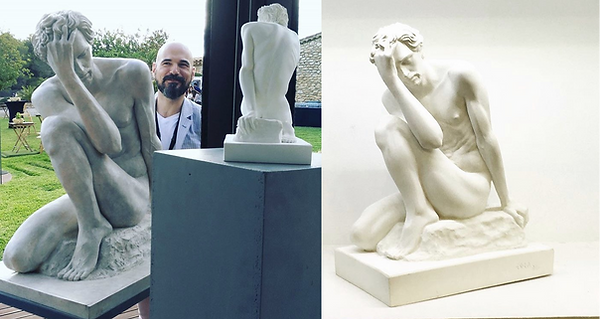 3D reproduction at scale of sculptures Jorge Egea, 3D printing, 3D scanner, 3D printer, 3D scanning.