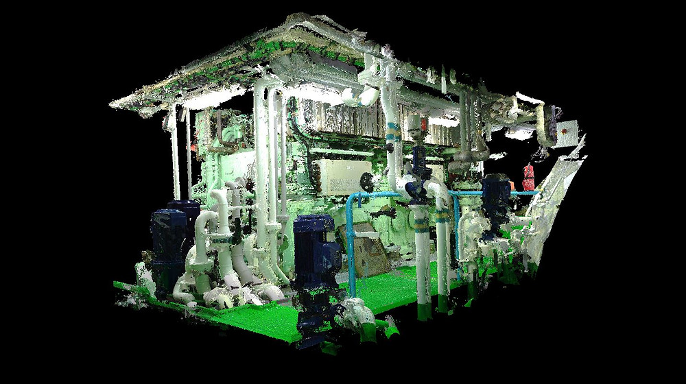 3D scan of the network pumps and pipes critical to the BWTS (Ballast Water Treatment system)