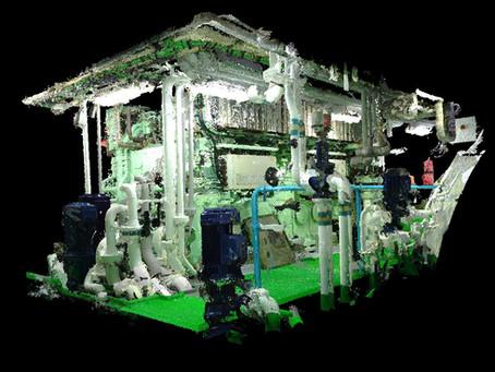Laser scanning engine room and BWTS General cargo vessel 4950 t for retrofit