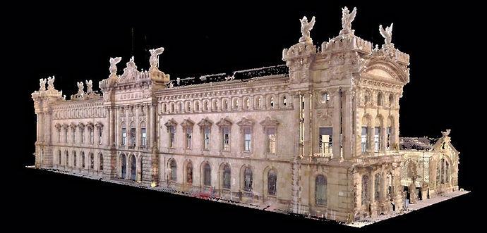 Scanner laser 3D, nuage de points 3D: Architecture de numérisation, patrimoine et industrie - Barcelona | BIM (modélisation des informations du bâtiment)