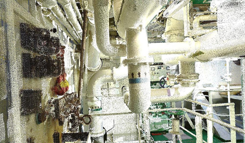 Escanedo laser elementos industriales - tuberías, conductos