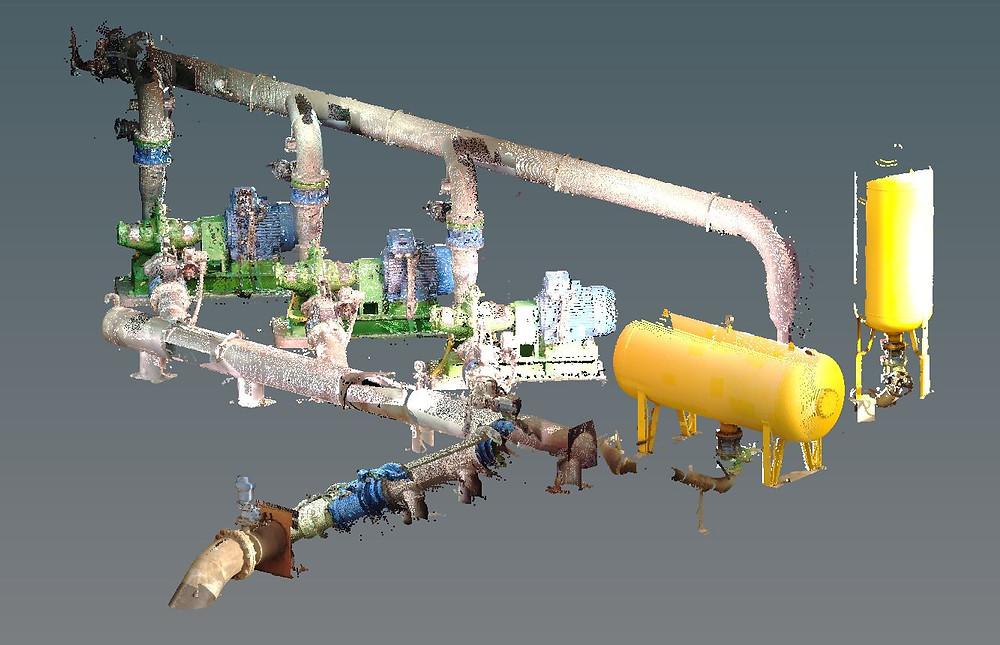 Escaneo láser de instalaciones industriales. Barcelona - España