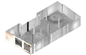 Point Cloud generated from 3D laser scanning, 3D Building Scanning, laser scanner, BIM, Revit, Archicad, Architecture, Engineering, Madrid, Barcelona, Spain