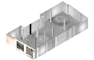 Point Cloud generated from 3D laser scanning, 3D Building Scanning, laser scanner, BIM, Revit, Archicad, Architecture, Engineering, Madrid, Barcelona, España