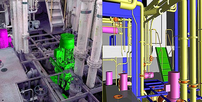 Numérisation 3D BWT (traitement de l'eau de ballast)