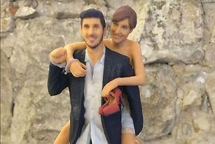 Figuras novios para tartas, Impresión 3D, figuras 3D, Escaneo, Escaner 3D, Reproducción 3D, Barcelona, España