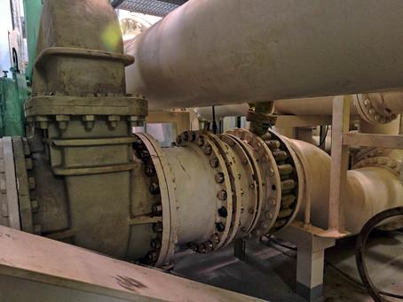 3D Laser scanning large Crude Oil Tanker pump room for retrofit