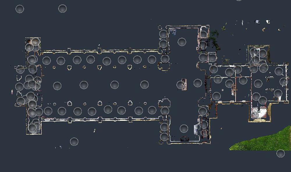 Planificación de los puntos de escaneo láser