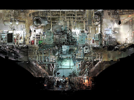 Engine room & BWTS Laser scanning Large Bulk Carrier 81354 t