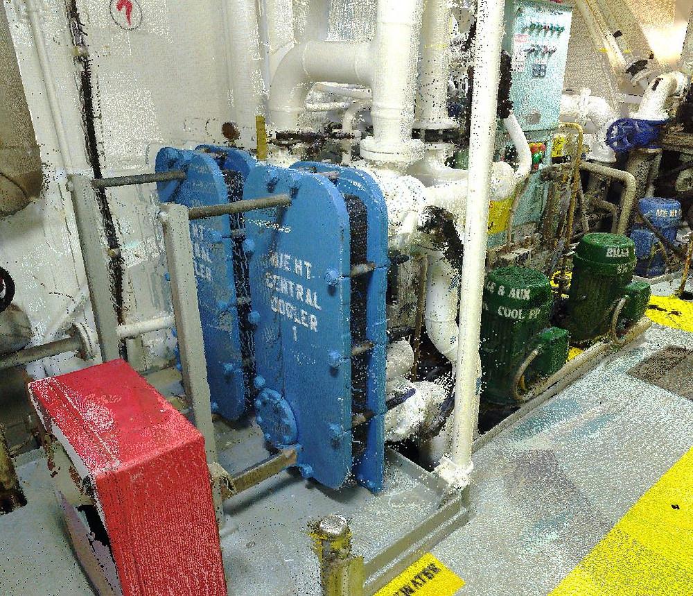 Marine 3D laser scanning Engine Room - Tanker vessel
