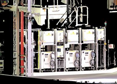 Núvol de punts d'escaneig 3D d'instal·lacions industrials, BIM, Barcelona