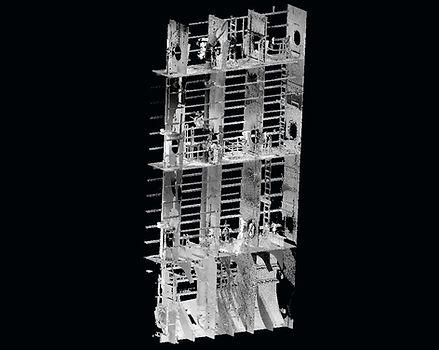 3D Laser Scanning of side Ballast Water tanks, Marine laser scanning, 3D Laser scanning, Spain, Europe
