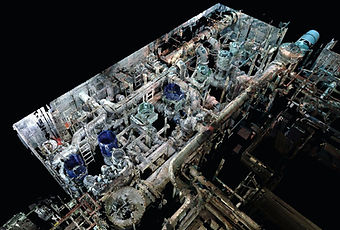 Laser scanning - 3D point cloud of industrial facilities, 3D Industry scanning, pipes, pumps, boilers. Spain, Algeciras, Barcelona, Valencia, Vigo, Santander, Tangier