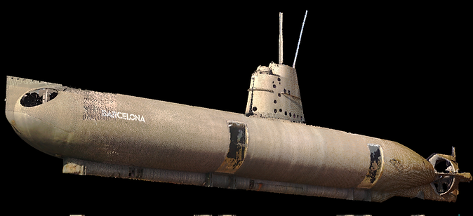 Ingeniería inversa usando escaner Láser 3D: Digitalización - Nube de puntos, Arquitectura, Patrimonio e industria - Barcelona  | BIM (Building Information Modeling), submarino S51