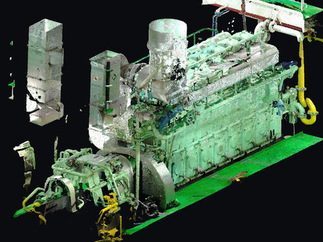 Marine Laser scanning engine room and BWTS General cargo vessel 7300 t
