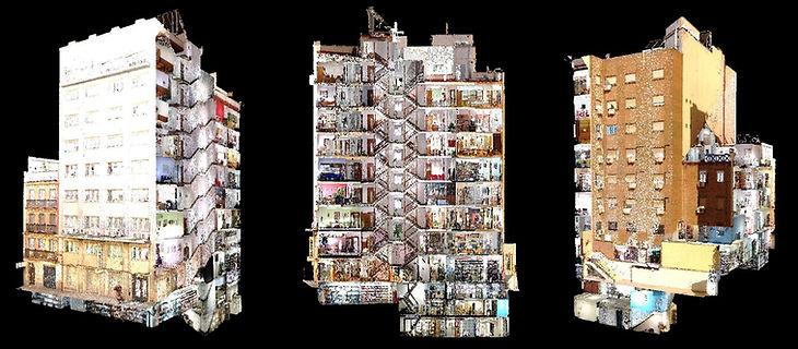 Numérisation de bâtiments complets, élaboration de plans, scanner laser 3D, BIM, Autodesk Revit, Autocad, Archicad, Solid Works, Barcelone, architecture, ingénierie
