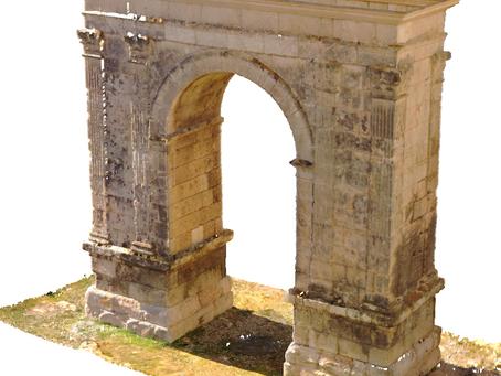 Escaneo y digitalización 3D de Arco romano de Bará