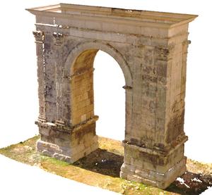 Escaneo 3D y digitalización de Arco Romano de Bará - Tarragona - Nube de puntos