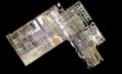 Géoréférencement - Installation industrielle de nuages de points, scanner laser